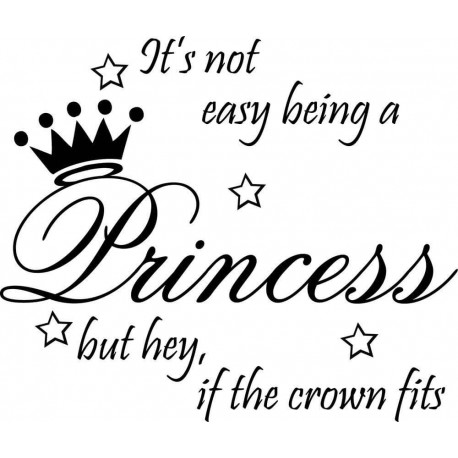 Väggdekor princessa