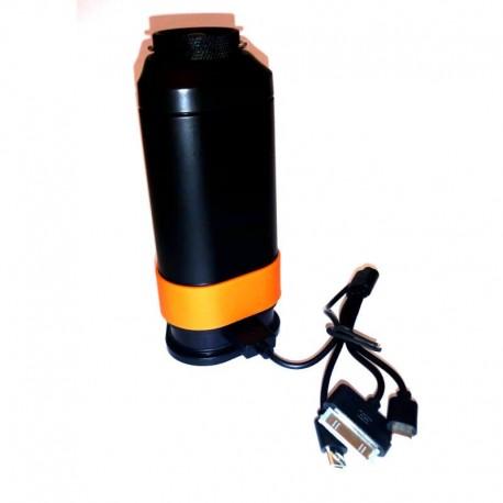 Campinglampa med powerbank och varningsbelysning