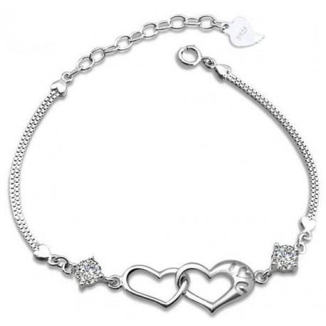 Armband hjärta i hjärta