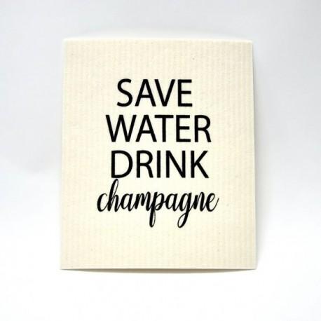 "DISKTRASA ""SAVE WATER DRINK CHAMPAGNE"""