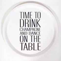 "Bricka ""Time to drink champange"""