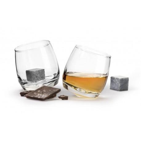 Giftset whiskey glas och stenar