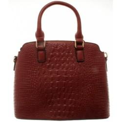 Väska 11, röd, mått ca 34 cm bred och 26 cm hög