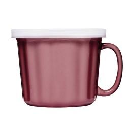 Soppmugg med lock, rosa