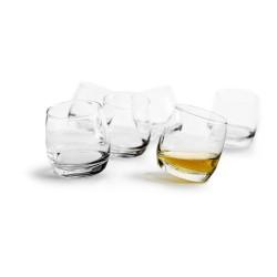 Whiskeyglas med rundad botten