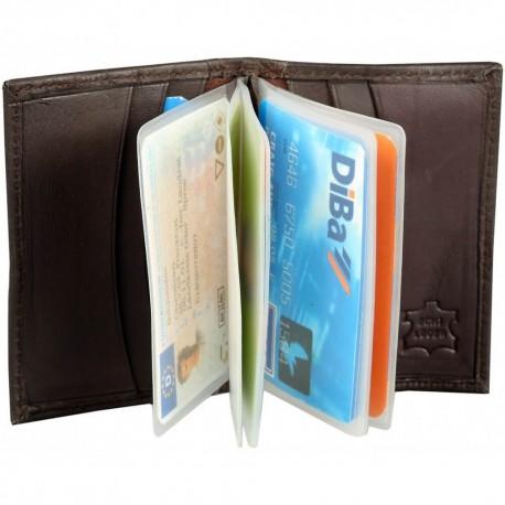 Kreditkortsplånbok, brun