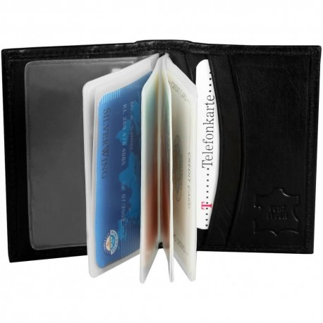 Kreditkortsplånbok, svart