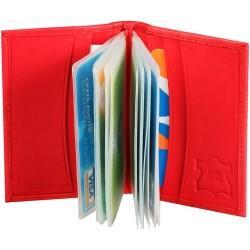 Kreditkortsplånbok, röd