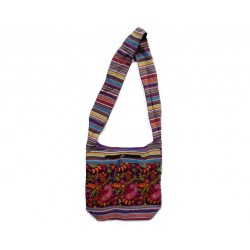 Bag Embroidery turkos/lila