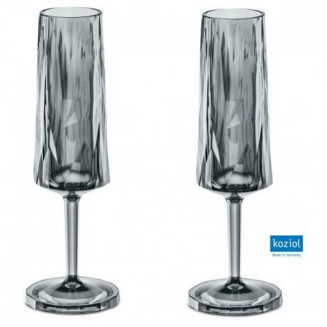 CLUB NO. 5 Champagneglas 2-pack 100 ml, transparent grå