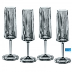 CLUB NO. 5 Champagneglas 4-pack 100 ml, transparent grå