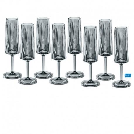CLUB NO. 5 Champagneglas 100 ml, transparent grå