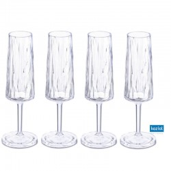 CLUB NO. 5 Champagneglas 4-pack 100ml, aquamarine