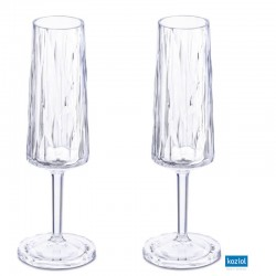 CLUB NO. 5 Champagneglas 2-pack 100ml, aquamarine
