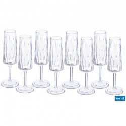 CLUB NO. 5 Champagneglas 8-pack 100ml, aquamarine