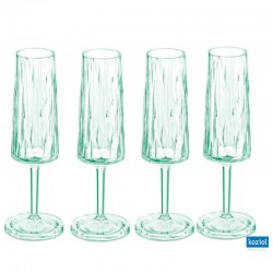 CLUB NO. 5 Champagneglas 4-pack 100ml, jade