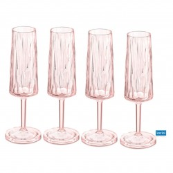 CLUB NO. 5 Champagneglas 4-pack 100ml, rosa