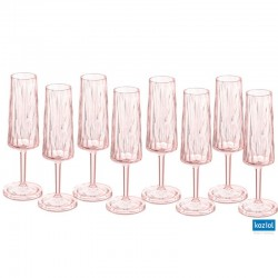 CLUB NO. 5 Champagneglas 8-pack 100ml, rosa