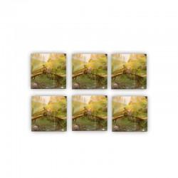 Glasunderlägg 6-pack Mumin, Snusmumriken och Mumin