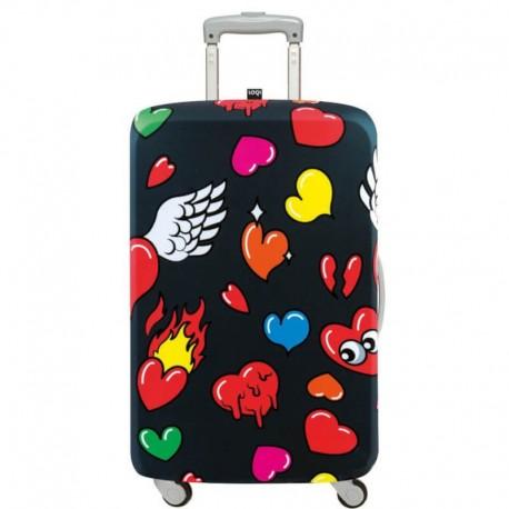 Överdrag resväska hjärtan