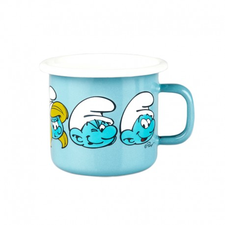 Emaljmugg Smurf 2.5 dl