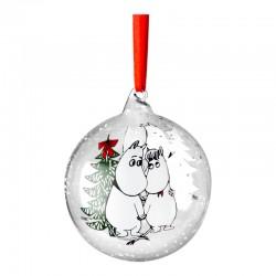 Mumin julkula i glas Mumintrollet och Snorkfröken