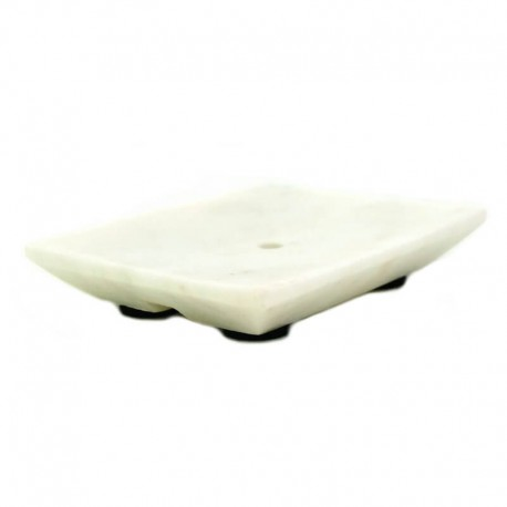 Tvålfat vit marmor