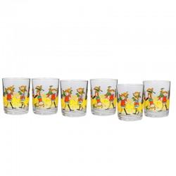 Pippi Långstrump Glas 6-pack