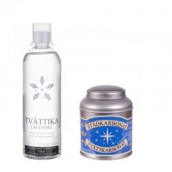 Tvättika lavendel och städ&tvättkarbonat lavendel