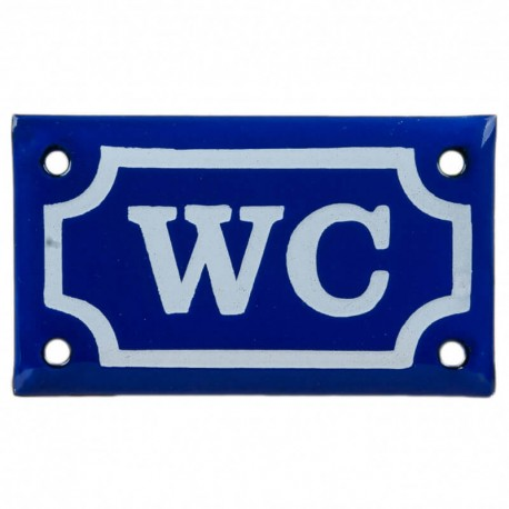 WC blå Emaljskylt