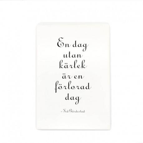 """Trätavla """"En dag utan Kärlek"""""""