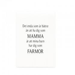 """Trätavla """"Mamma & Farmor"""
