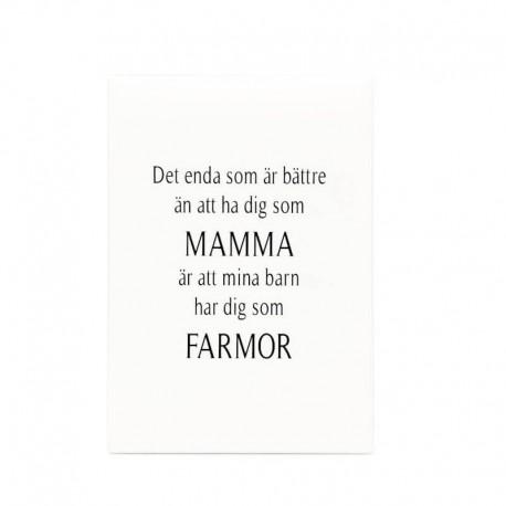 """Trätavla """"Mamma & Farmor"""""""
