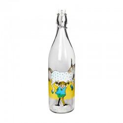 Glasflaska Pippi Långstrump 1 L