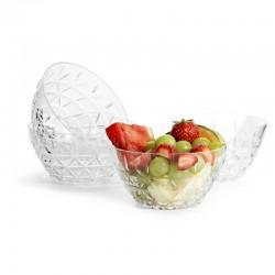 Picknick skål 4-pack transparent