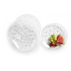 Picknick Tallrik 4 pack transparent