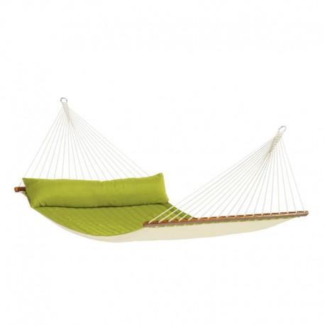 Vädertålig singel hängmatta med träkarmar Fruta Curaçao