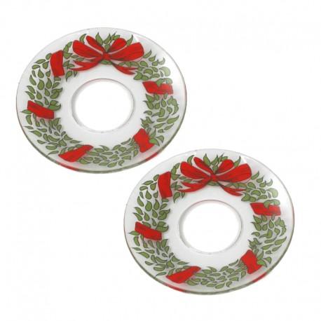 Ljusmanschetter 2-pack glas jul