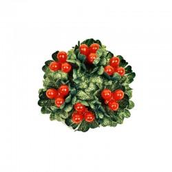 Ljusmanschett jul med röda bär