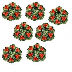 7- pack Ljusmanschetter jul med röda bär