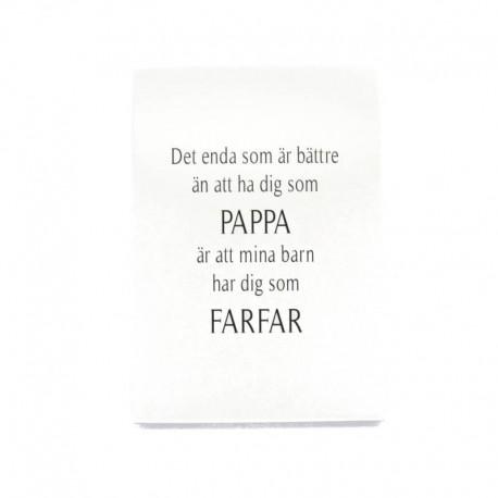 Trätavla Pappa & Farfar