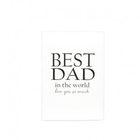 """Trätavla """"BEST DAD"""" A5"""