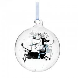 Mumin julkula i glas Rider på ren