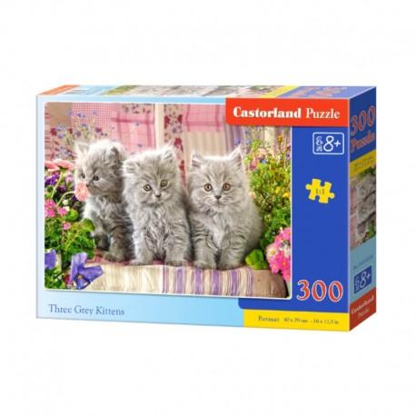 Pussel Three Gray Kittens, 300 bitar