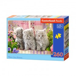 Pussel Three Gray Kittens, 260 bitar