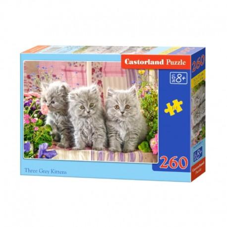 Pussel Three Gray Kittens, 260 bitar