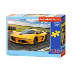 Pussel Yellow Sportscar, 120 bitar