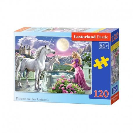 Pussel Princess an her Unicorn, 120 bitar