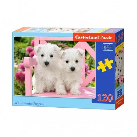 Pussel White Terrier Puppies, 120 bitar
