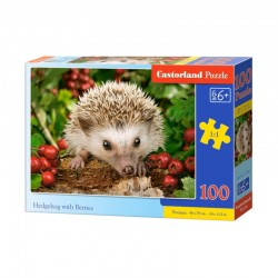 Pussel Hedgehig with Berries 100 bitar